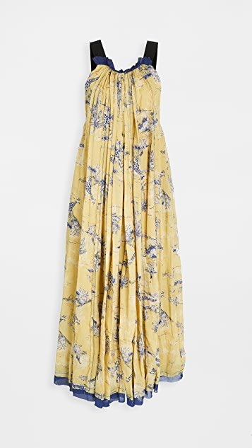 Tropical Toile Maxi Dress