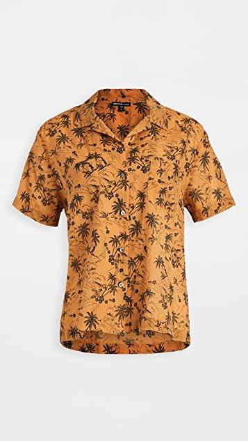 Island Print Aloha Shirt