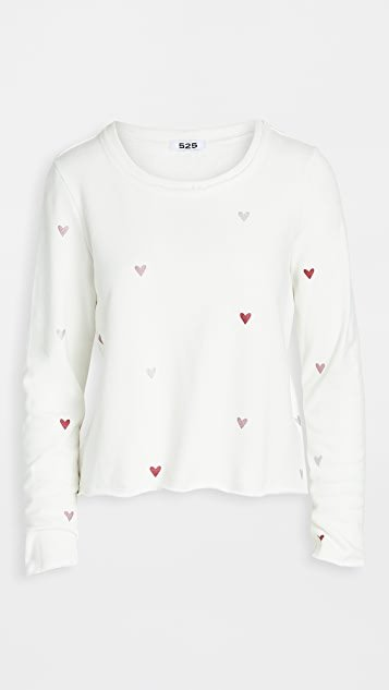 Hearts Pullover Sweatshirt