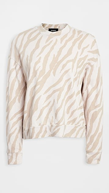 Zebra Boxy Sweatshirt
