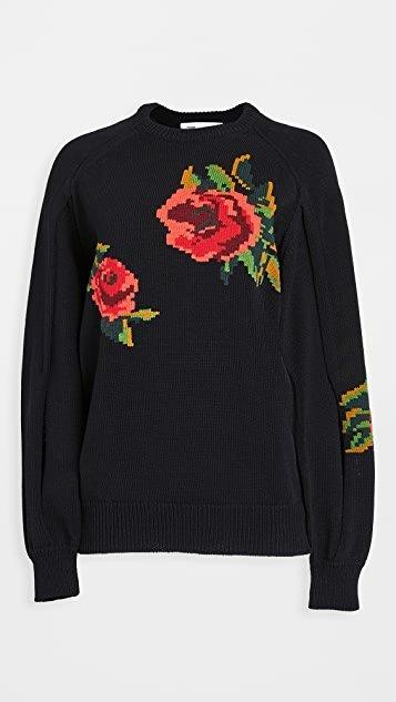 Intarsia Knit Pullover