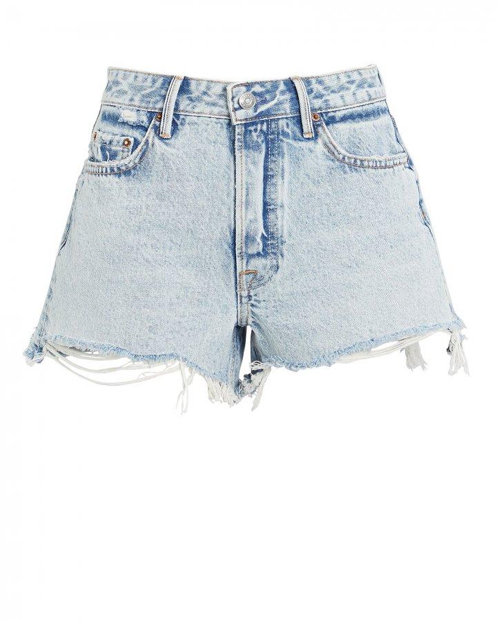 Helena Cut-Off Denim Shorts