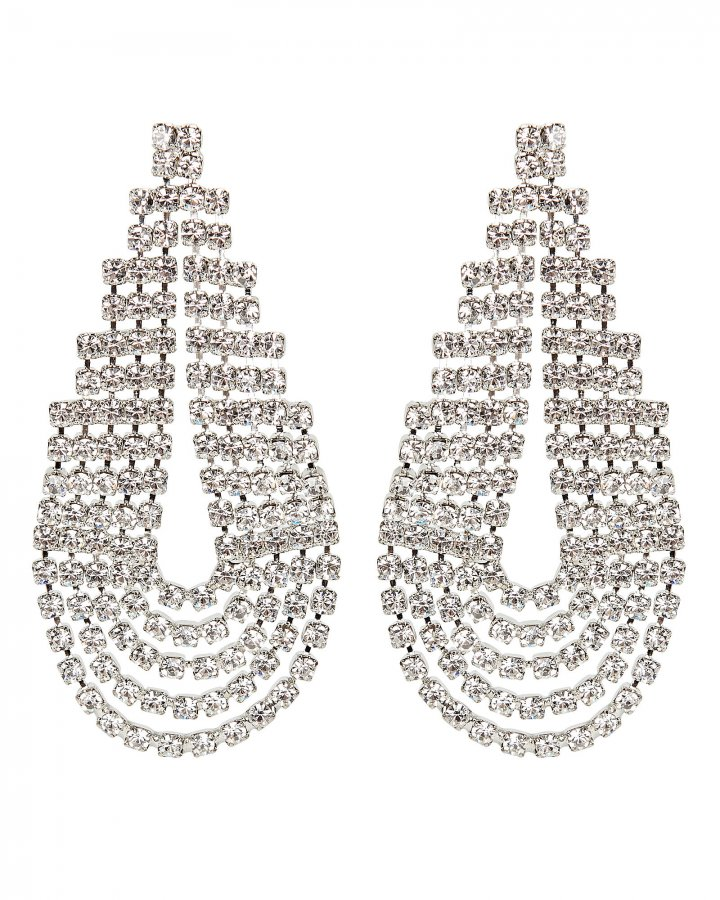 West Crystal Statement Earrings