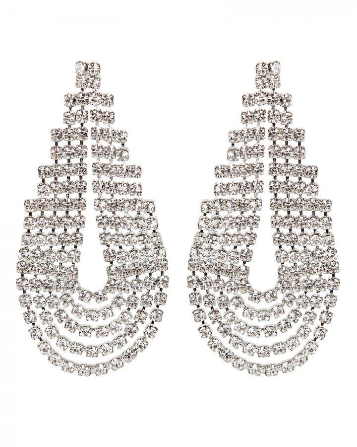 West Crystal Statement Earrings