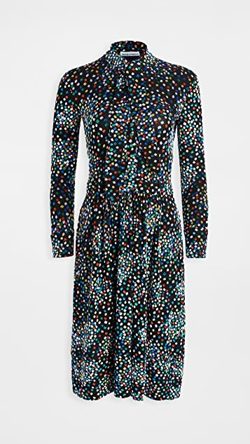 Long Sleeve Black Dot Dress