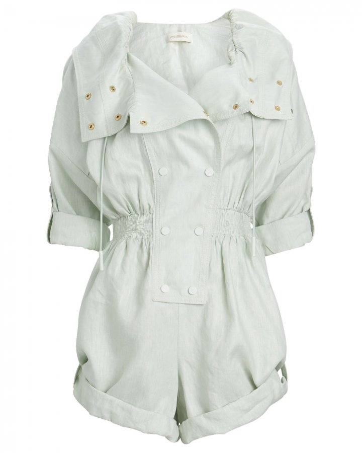 Glassy Linen Utility Playsuit