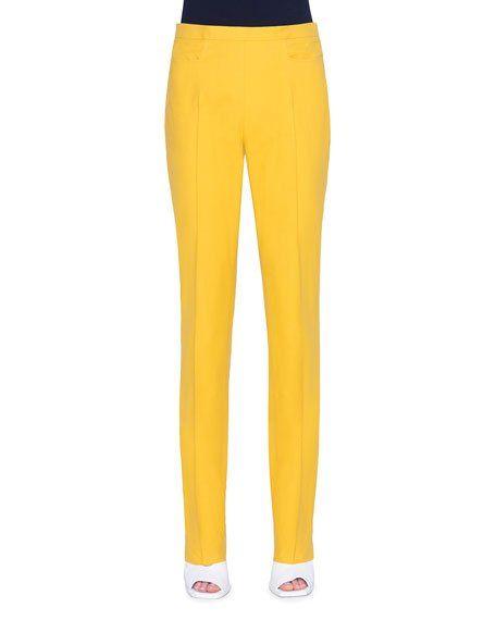 Francoise Slim-Straight Pants, Yellow