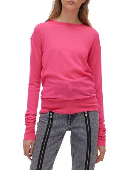 Neon Stitch Crewneck Sweater