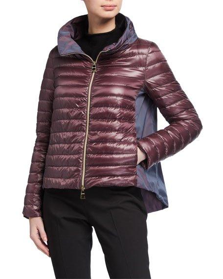 Ladybug Long-Sleeve Puffer Jacket w/ Cape