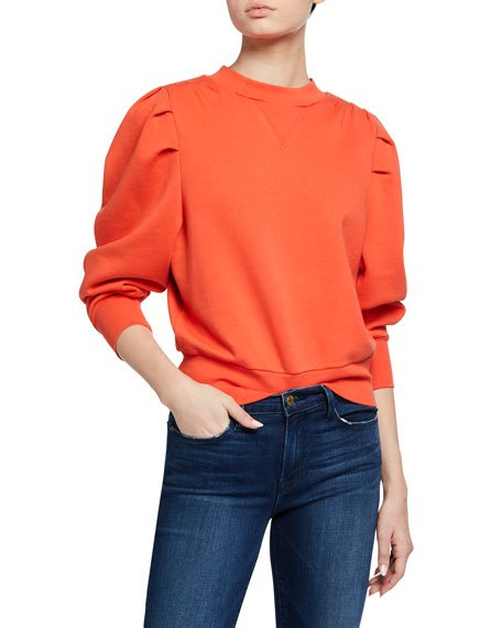 Shirred Sweatshirt