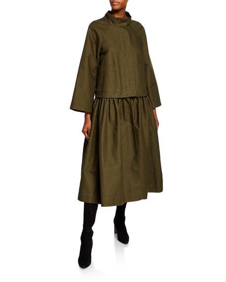 Convertible Full-Skirted Coat