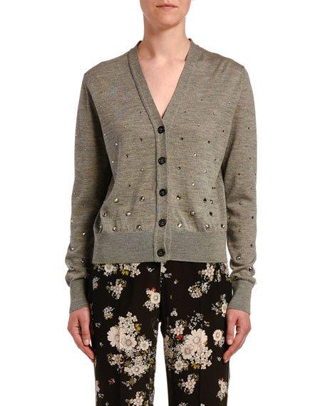 Embellished Wool Cardigan
