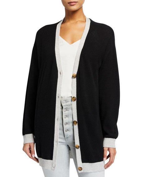 Oversized Wool-Cashmere Cardigan