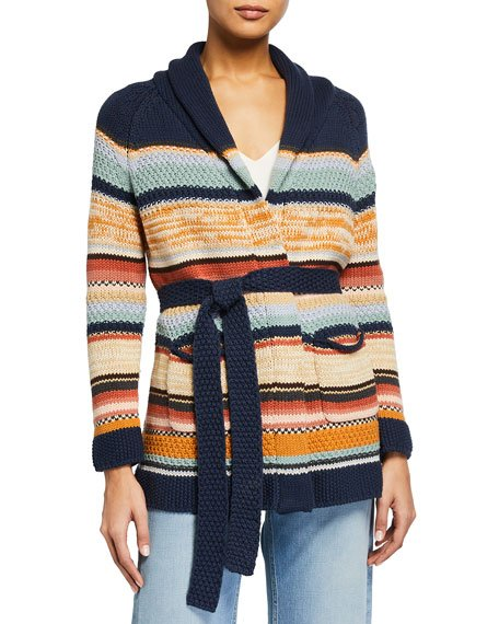 The Mountain Striped Tie Cardigan
