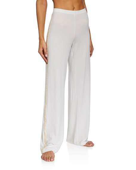 Brenda Lace-Trim Long Pants
