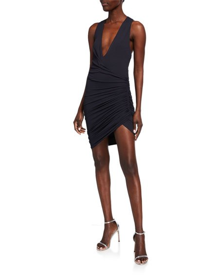 Ruched Jersey Wrap Dress