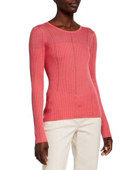 Cashmere-Silk Illusion Sweater