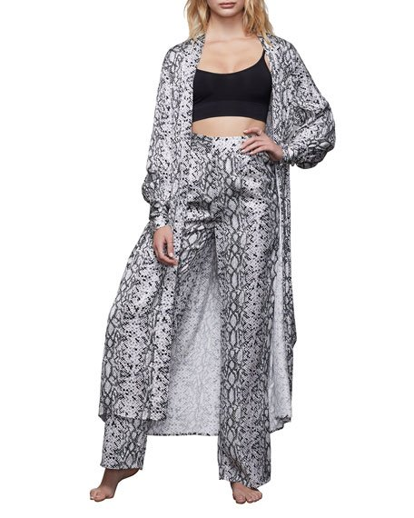 Python-Print Long Robe - Inclusive Sizing