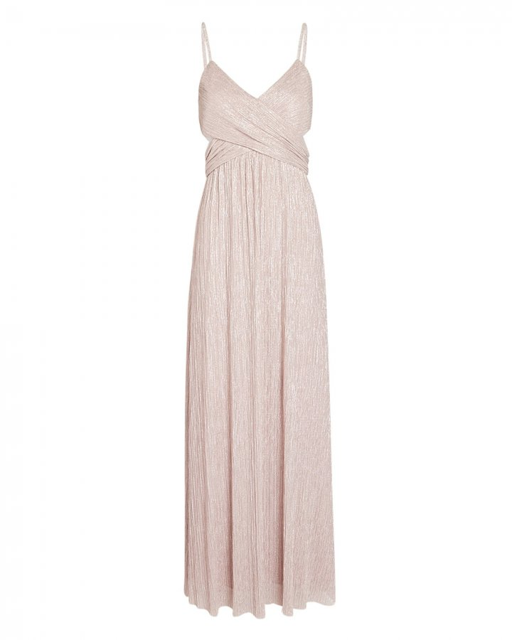 Tina Lurex Cut-Out Gown
