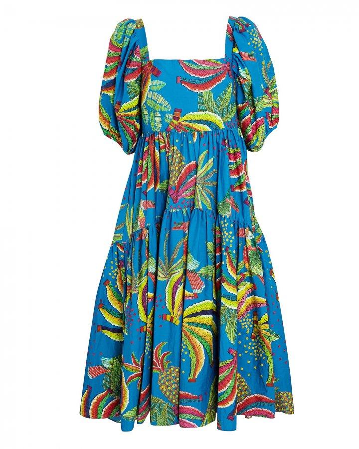 Blue Banana Cotton Midi Dress