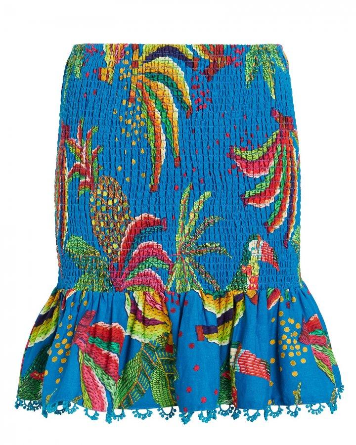 Blue Banana Smocked Mini Skirt
