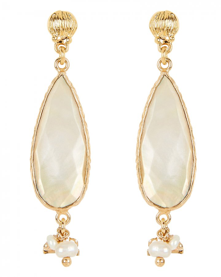 Serti Goutte Mother-Of-Pearl Earrings
