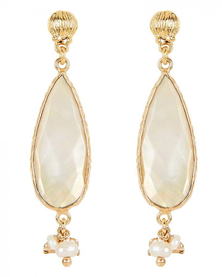Serti Goutte Mother-Of-Pearl Earrings