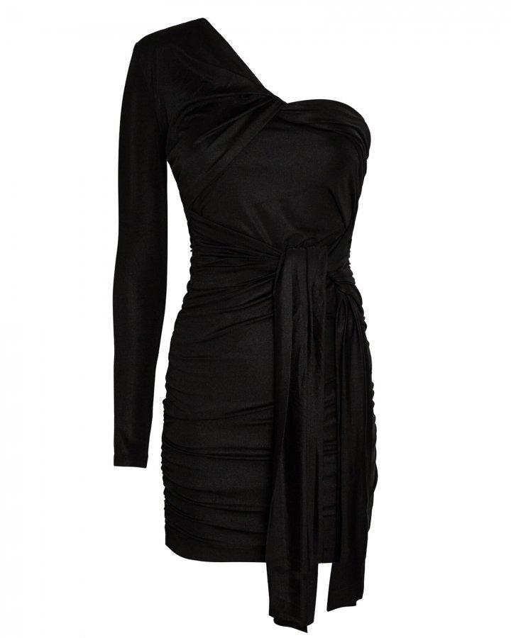 Arta Ruched One-Shoulder Mini Dress