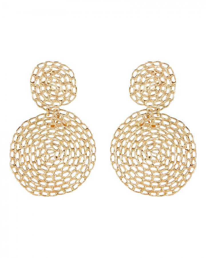 Onde Gourmette Lace Circle Earrings