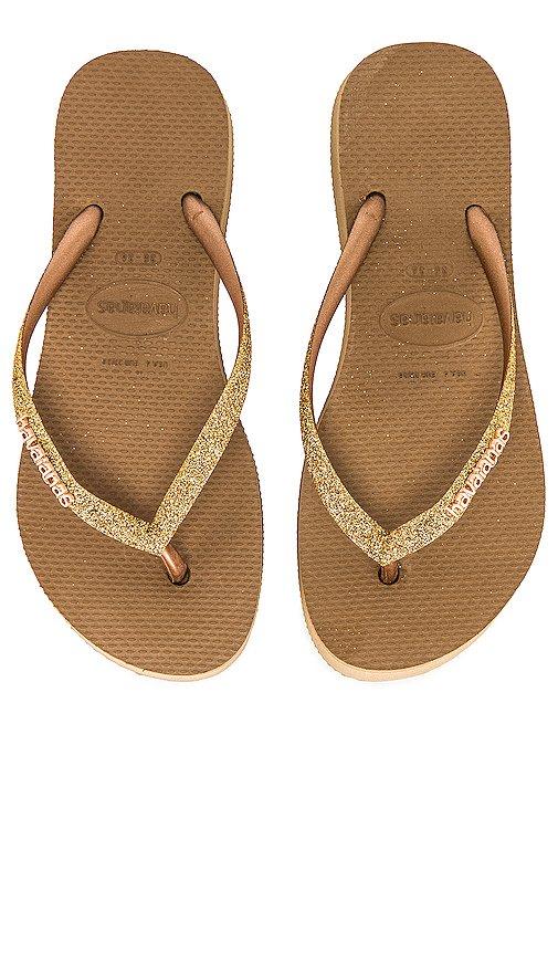 Slim Flatform Glitter Sandal