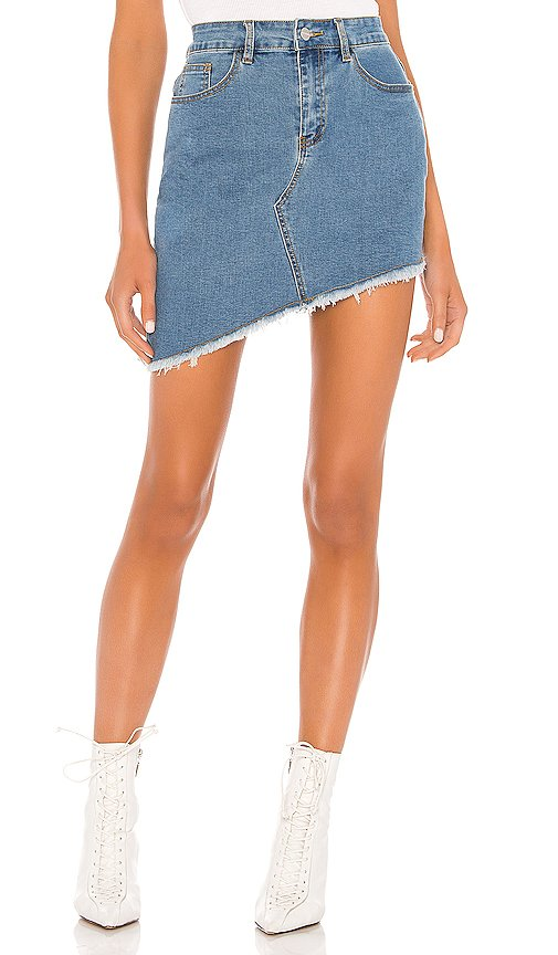Roxanna Asymmetric Denim Skirt