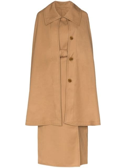 Lemaire Cape Belted Trench Coat Ss20 | Farfetch.com