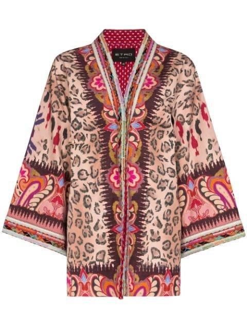 Etro Embroidered Trim Kimono Ss20 | Farfetch.com