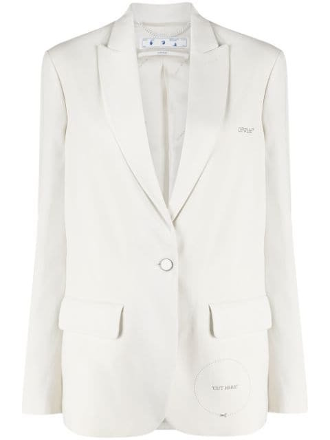 Off-White Peak Lapel Blazer