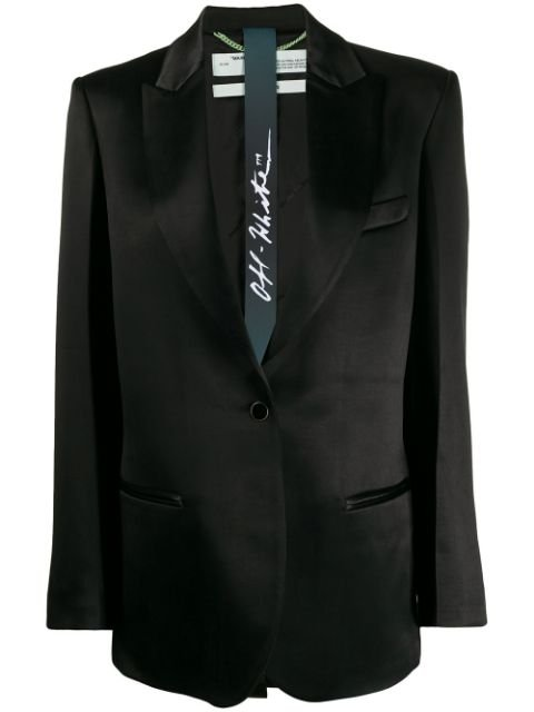 Off-White Oversized Satin-Finished Blazer Aw19 | Farfetch.com