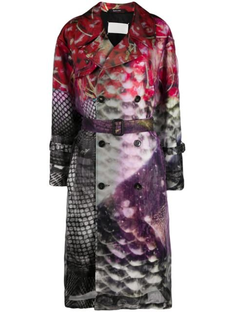 Maison Margiela Abstract Printed Trench Coat
