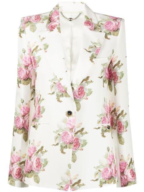 Paco Rabanne Floral-Print Blazer Ss20 | Farfetch.com