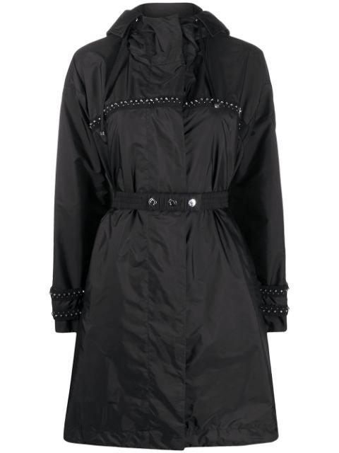 Moncler stud-embellished Belted Coat