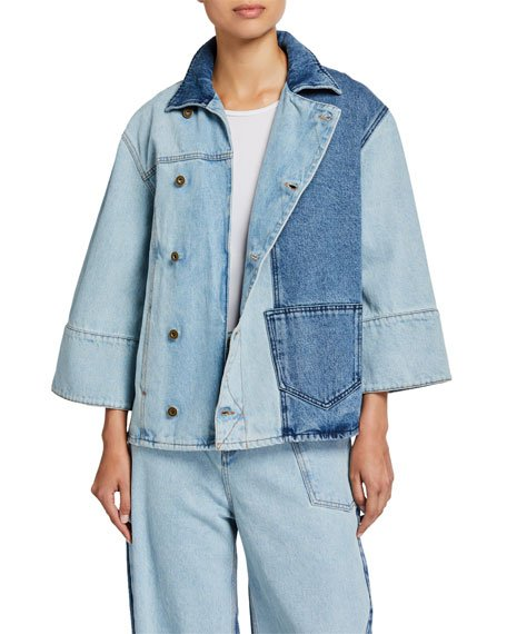 Maru Two-Tone Denim Jacket