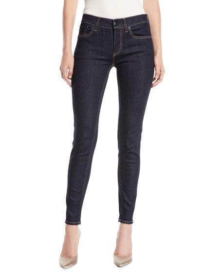 400 Mid-Rise Five-Pocket Skinny Jeans
