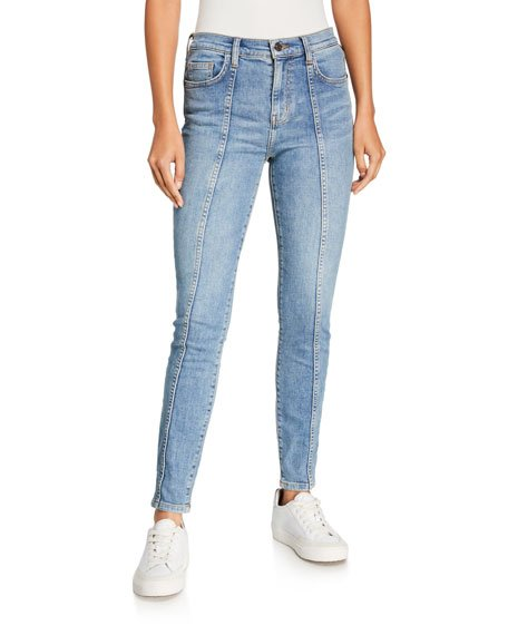 The Seamed High-Waist Ankle Skinny Stiletto Jeans