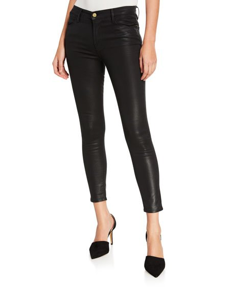 Le High Skinny Coated Jeans