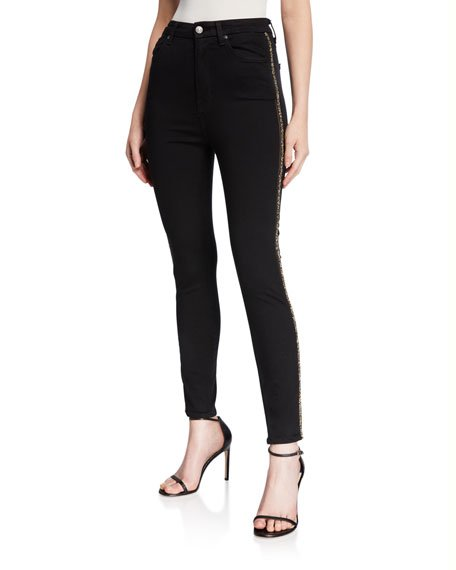 Aubrey Caviar Side Panel Skinny Jeans