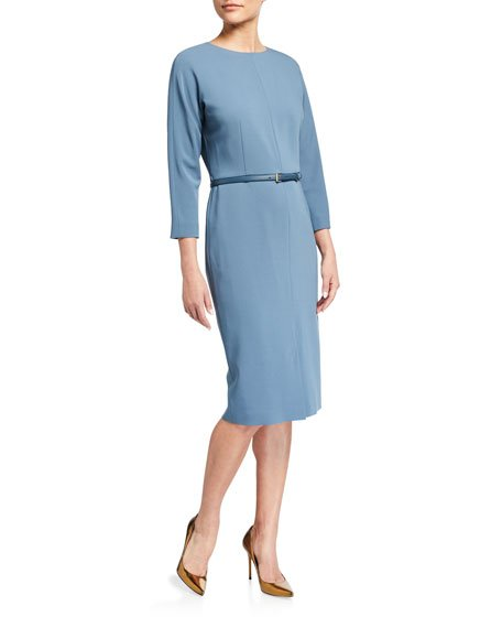 Liriche 3/4-Sleeve Wool Dress