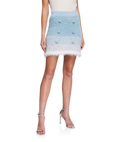 Remora Button-Front Short Skirt