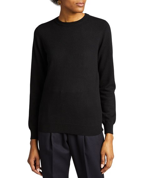 Cashmere Basic Crewneck Sweater