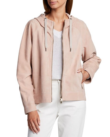 Suede Zip-Front Jacket