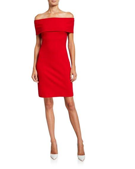 Banded Off-the-Shoulder Dress