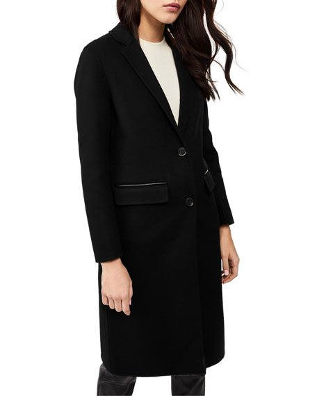 Hens Long Wool Coat