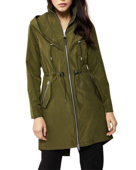 Franki Hooded Fishtail Parka Rain Jacket